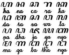 makna dari tulisan aksara jawa hanacaraka Thai Alphabet, All About Me Art, Indonesian Art, Wise People, Javanese, Typography, Lettering, Write It Down, Simple Art