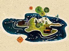 Dribbble - Island Final by Adam Grason