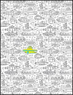"""""""We all live in a yellow submarine..."""" From Doodle Book Volume 2."""
