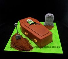 Coffin Casket Cake — Over the Hill