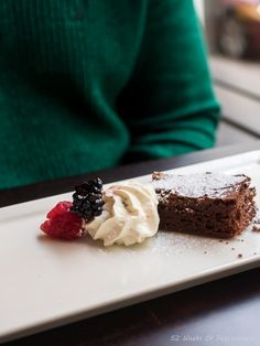 A Mouthwatering Brownie at Restaurant Muru