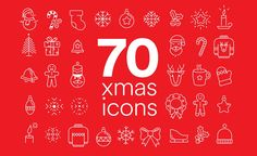 Freebies for your next design - grab now 70 Xmas Icons that you can use in any project you like, be it personal or commercial. On us!