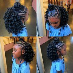 Kids Crochet Hairstyles, Lil Girl Hairstyles, Black Kids Hairstyles, Natural Hairstyles For Kids, Kids Braided Hairstyles, Princess Hairstyles, Crochet Hair Styles, Crochet Braids For Kids, Simple Hairstyles
