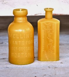 Beeswax Candle Gift Set - Boston Bottle Collection by Deva America on Scoutmob Shoppe. Awesome natural candles cast with vintage bottles.