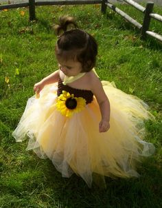 Hey, I found this really awesome Etsy listing at http://www.etsy.com/listing/83931722/sunflower-tutu-dress-and-clip-for