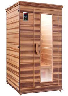comfort 1 person infrared sauna $1,528.00   thivest.com   Pinterest ...
