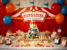 Printable backdrop  Carnival birthday party collection by envyanvi, $12.00