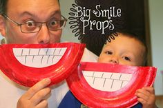 Smile props. Davis will love this!