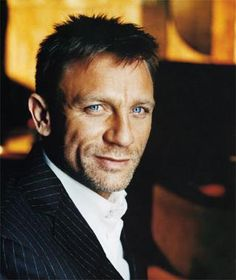 Daniel Craig.....this picture really shows off those gorgeous eyes and that smile.  One of my favorite actors!