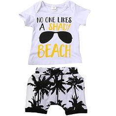 Charm Kingdom Kids Toddler Baby Boys Girls No One Likes A Shady Beach Glasses Shirt and Palm Shorts Set White) Toddler Boy Outfits, Toddler Fashion, Toddler Boys, Baby Boys, Hipster Kid, Toddler Chores, Minimalist Baby, Trendy Kids, Baby Boy Newborn