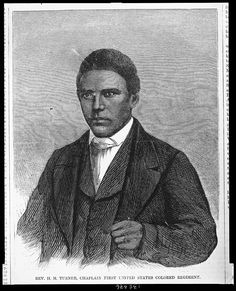 Rev. H. M. Turner, chaplain First United States Colored Regiment (Library of Congress)