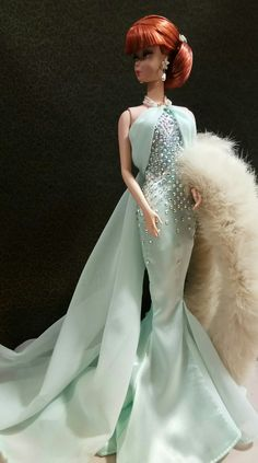 Between Takes Silkstone Barbie in Evening gown shades of Mint