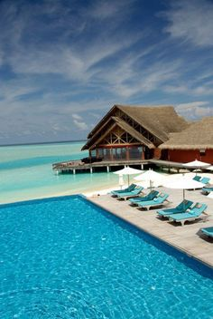 Beach and pool, paradise