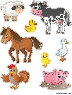 Découpage gratuit à imprimer, des animaux de la ferme