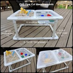 18. This sand and water table is prettier than a store-bought version.