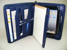 iPad mini with HalfLetter Size Paper Pad Holder and by leathercase, $115.00