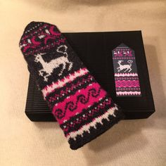 """With this kit You will learn how to make a pair of Muhu island inspired pattern mittens. In """"Knit Like a Muhu Islander"""" box You will find: - colour"""