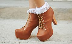 Boots and lace socks