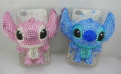 3D Stich Iphone 4 cover case with crystals