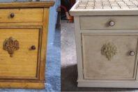 Przed i po. Chalk Paint decorative paint by Annie Sloan kolor Original + ciemny wosk /   Before & after. Color Original + dark wax