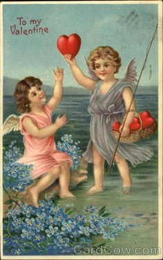 Cupids Wading in the Water