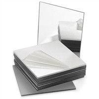 "Mirrors 4""- Square - Acrylic (Plastic)"
