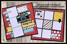 Disney Scrapbook Pages, 12x12 Scrapbook, Digital Scrapbooking Layouts, Scrapbook Designs, Scrapbook Sketches, Scrapbook Page Layouts, Scrapbook Borders, Scrapbook Templates, Photo Layouts