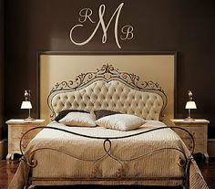 Looking for this kind of monograming for our room. Love this