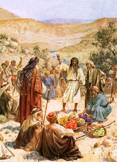 Joshua and Caleb were the only leaders who protested and had faith that the Israelites could conquer the land - painting 'Caleb remonstrates with Moses', by William Hole