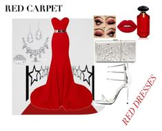 """Red for Red carpet"" by selmazbanic ❤ liked on Polyvore featuring Qupid, Lime Crime, Victoria's Secret, Plukka, Bling Jewelry and Kobelli"