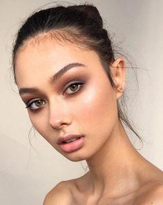 soft, glowy skin with highlighting