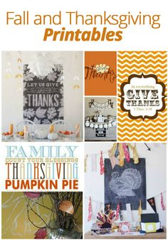 Freshen Up Your Decor with #Fall and #Thanksgiving #Printables! thanksgiv printabl