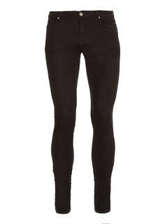 Black Super Spray On Skinny Jeans - Spray On Skinny Jeans - Men's Jeans - Clothing - TOPMAN £38