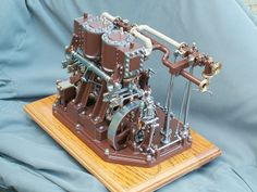 Working Model of Reversible Rolling mill engine. Viewed from governor end. Excellent workmanship.