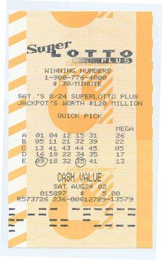 Oct 2019 - California Lottery Super Lotto Winning Numbers Provide lady luck a ability, play the lottery to make a killing.
