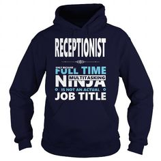 Awesome Tee RECEPTIONIST JOBS TSHIRT GUYS LADIES YOUTH TEE HOODIE SWEAT SHIRT VNECK UNISEX T-Shirts