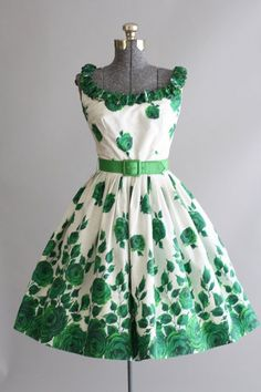 Green with envy- what a fab 50's shape!