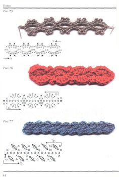 Crochet encyclopedia Crochet techniques and patterns Crochet Feather, Crochet Belt, Crochet Mask, Crochet Diagram, Crochet Borders, Crochet Stitches Patterns, Crochet Doilies, Crochet Flowers, Crocheted Lace