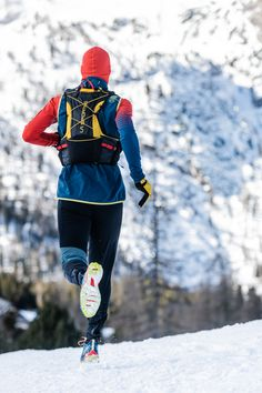 The La Sportiva Trail Vest back pack is designed for competitions or trail running training over medium distance. The vest construction and the.