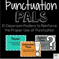 Punctuation Pals Posters from I Heart Grade 3
