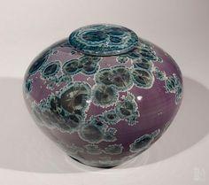 Bill Boyd - Purple Lidded Vessel #243 - ceramic - 7.25 x 8