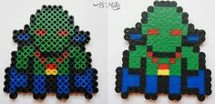 Perler beads J'onn J'onzz, Detective Marciano or Martian Manhunter. He is a superhero from DC Comics, is one of the seven original members of the Justice League of America.