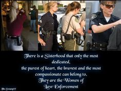Women in law enforcement is my occupational goal, this is a social identity