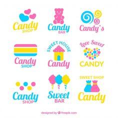 Sweet Bar, Love Is Sweet, Sweet Logo, Candy Logo, Candy House, Shops, Kids Logo, Vector Photo, Candy Shop