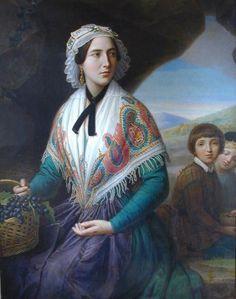 Thomas Degeorge - Paysanne assise, 1852 - Musee d'Art Roger-Quilliot [MARQ], Ville de Clermont-Ferrand