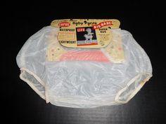 Vintage 1960s Empire Baby Pants Waterproof Vinyl Plastic