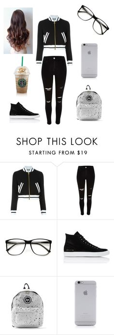 """""""starbucks"""" by misol-piaggio ❤ liked on Polyvore featuring Moschino, River Island, Common Projects, Hype, Native Union, women's clothing, women, female, woman and misses"""
