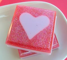 Valentine's Day  Pink Sugar Love Soap  All by SunbasilgardenSoap, $5.25
