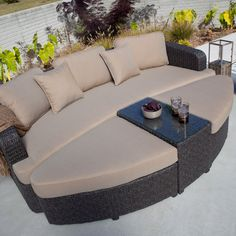Montclair All Weather Wicker Sectional Sofa Set - Outdoor Wicker Furniture at Hayneedle
