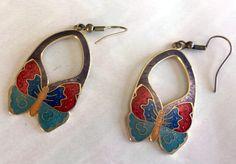 Recyled Treasures Boutique Simple /& Delicate Butterfly Dangle Earrings for Women /& Teen Girls